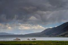 Onweerswolken over monomeer Royalty-vrije Stock Afbeeldingen