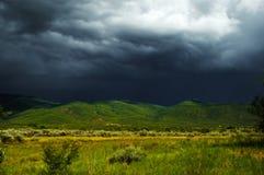 Onweerswolken over Taos, Nieuwe Mexcio Royalty-vrije Stock Foto