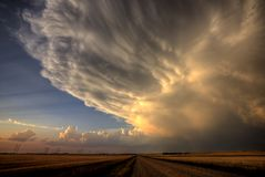 Onweerswolken Saskatchewan Stock Foto