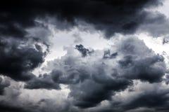 Onweerswolkenachtergrond Stock Afbeelding