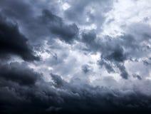 Onweerswolkenachtergrond Stock Foto