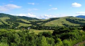 Onwerkelijk berglandschap Stock Afbeelding