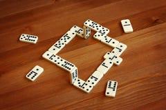Onwerkelijke domino, illusie Stock Afbeelding