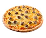 Onwhite della pizza immagini stock