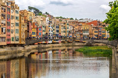 Onyar river - Gerona Royalty Free Stock Images