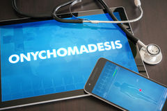 Onychomadesis (cutaneous disease) diagnosis medical concept Stock Photos