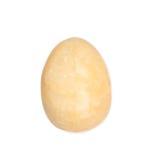 Onyksu kamienny jajko odizolowywający na bielu Obrazy Stock