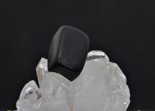 Onyx στο κρύσταλλο βράχου Στοκ Εικόνες