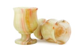 Onyx cups Stock Photo