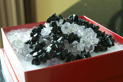 Onyx et colliers noirs d'améthyste Image stock