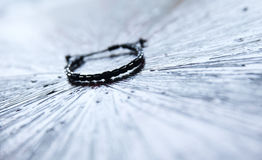 Onyx and silver bracelet Royalty Free Stock Images