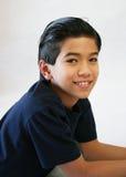 Onze anos consideráveis do menino idoso imagens de stock royalty free