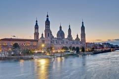Onze Dame van de Basiliek van de Pijler in Zaragoza, Spanje royalty-vrije stock afbeeldingen