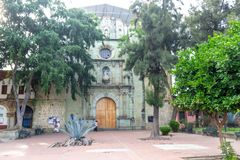 Onze Dame van de tempel van La Merced in Oaxaca Mexico stock foto's