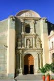 Onze Dame van de Veronderstellingskathedraal in Oaxaca stock foto's