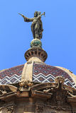 Onze Dame van Genade op de koepel van de Basiliek DE La Merce, Barce Stock Foto's