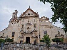 Onze Dame van Grace Church, een deel van het Trinitarian klooster, AlmerÃa, Spanje stock afbeeldingen