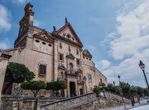 Onze Dame van Grace Church, een deel van het Trinitarian klooster, AlmerÃa, Spanje stock fotografie