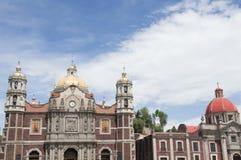 Onze Dame van Guadalupe heiligdom in Mexico-City Stock Foto's