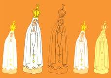 Onze Dame van het standbeeld van Fatima stock illustratie