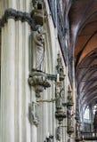 Onze Dame van Mariastraat-Kerk Brugge stock afbeelding