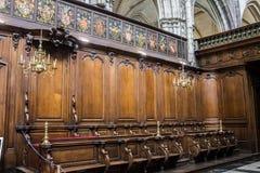 Onze Dame van Mariastraat-Kerk Brugge stock foto's
