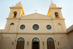 Onze Dame van Rosario Cathedral - Cafayate - Argentinië stock foto