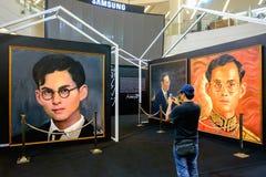 In onze eeuwige geheugengebeurtenis, huidige Koning Rama 9 foto door Aree Royalty-vrije Stock Foto's