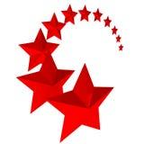 Onze estrelas vermelhas no fundo branco Foto de Stock Royalty Free