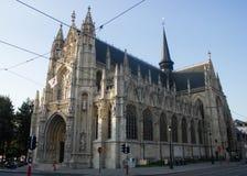 Onze Heilige Dame van de Sablon-Kerk, Brussel, België Royalty-vrije Stock Afbeeldingen