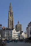 Onze-Lieve-Vrouwekathedraal in Antwerp, belgium Stock Image