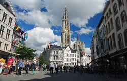 Onze-Lieve-Vrouwekathedraal cathedral in Antwerp Royalty Free Stock Photos