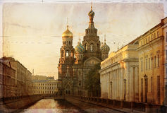 Onze Redder M. Blood, St. Petersburg, Rusland Stock Foto's