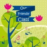 Onze Vriendschappelijke Klassenachtergrond Royalty-vrije Stock Fotografie