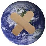 Onze wereld is Gepleisterd! Stock Foto