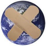 Onze wereld is Gepleisterd! (NASAbeeldspraak) Royalty-vrije Stock Foto