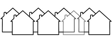 Onzichtbaar huis vector illustratie