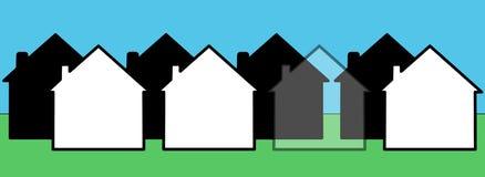 Onzichtbaar huis stock illustratie