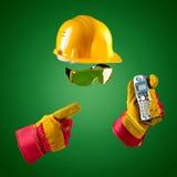 Onzichtbare bouwer — telefoon Stock Foto's