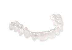 Onzichtbare pal, orthodontia stock afbeelding