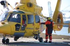 OO-NHU Eurocopter AS365N3 Dauphin 2 helikopter holenderska straż przybrzeżna obrazy stock