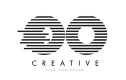 OO O Zebra Letter Logo Design with Black and White Stripes Stock Photo