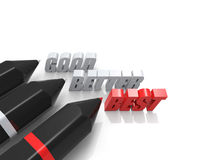 Good,Better,Best 3d word concept Royalty Free Stock Image