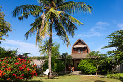 Wooden vacation house on Gili Trawangan, Indonesia Royalty Free Stock Photography