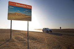 Oodnadatta Track and SUV Stock Photography