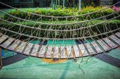 Oodrn bridge in playground Stock Photography