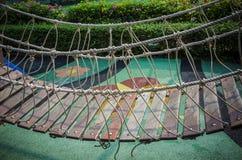 Oodrn bridge in playground Stock Photo