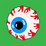 Oog in beeldverhaalstijl comics eyeball Vectonicgrafiek royalty-vrije illustratie