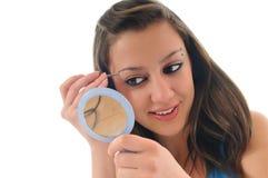 Oog - brow schoonheidsbehandeling stock fotografie