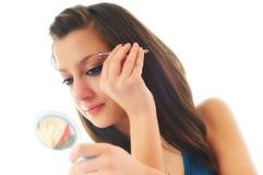 Oog - brow schoonheidsbehandeling stock foto's